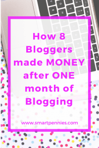 how 8 bloggers made money in their FIRST month blogging