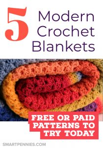 Needing inspiration how about 5 modern crochet blanket patterns.Some Free and paid patterns which are suitable for experienced crochet and Beginner crochets including Granny Squares and other beautiful projects for you to try today.