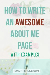 How to write an awesome about me page