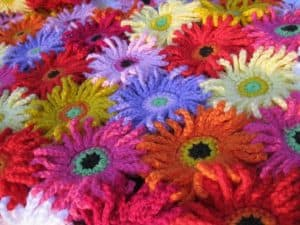 Gerbera crochet pattern blanket