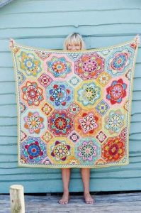 jane crowfoot persian tiles crochet blanket