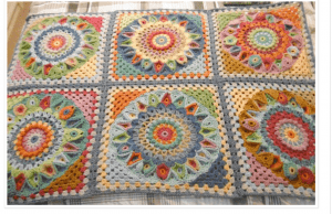 susan pinner spinning top crochet blanket