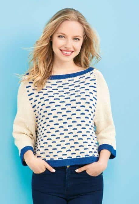 free nautical sweater knitting pattern