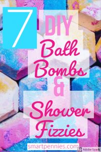 7 DIY Bath bombs and shower fizzes