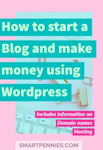 How to start a Blog and make money using WordPress from picking your domain names, picking hosting, and your WordPress theme.