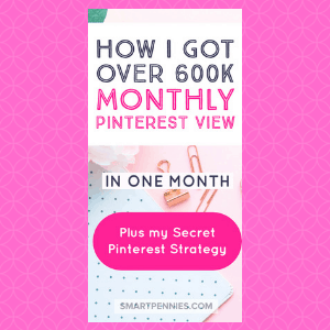 Are you looking to win with Pinterest? Is your account stuck in the doldrums? Then you need to find out what my exact strategy I used to go from 260k monthly views on Pinterest to over 600k monthly views in ONE month on Pinterest. This is a must for anyone struggling with Pinterest doesn't take up too much time once everything is set up and you can spend less than 30 minutes on this strategy.