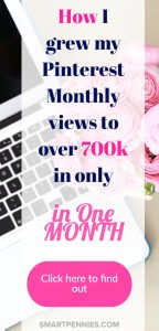 The secret to getting over 700k Monthly Pinterest views and increasing your blog traffic to your website today.