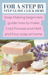 Free Beginners guide to making your own gorgeous soap at home. Step by step guide to making Melt and pour soap and Cold process soap. Soap making can be fun way to make personalised gifts for family and friends.