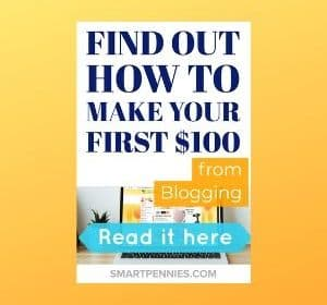 How I earned my first $100 blogging (Find out how you can make money blogging)